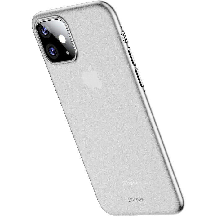 Baseus Wing case — тънък полипропиленов кейс (0.45 mm) за iPhone 11 (бял) - 2