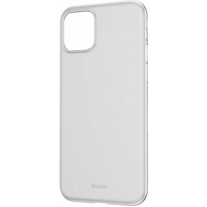 Baseus Wing case — тънък полипропиленов кейс (0.45 mm) за iPhone 11 (бял) - 5
