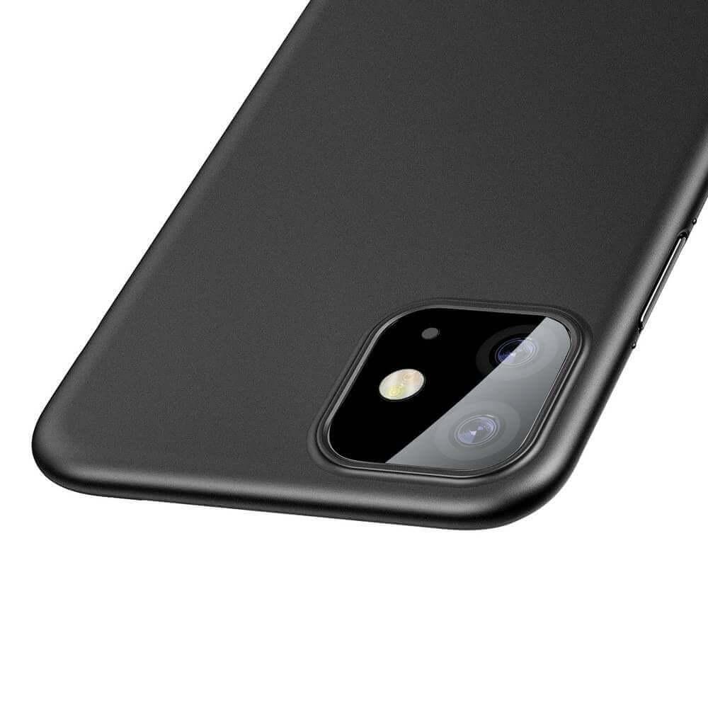 Baseus Wing case — тънък полипропиленов кейс (0.45 mm) за iPhone 11 (черен) - 4