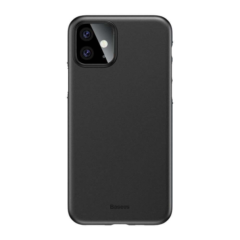 Baseus Wing case — тънък полипропиленов кейс (0.45 mm) за iPhone 11 (черен) - 1