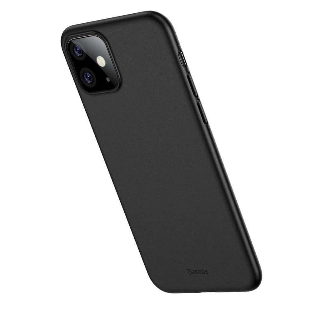 Baseus Wing case — тънък полипропиленов кейс (0.45 mm) за iPhone 11 (черен) - 2