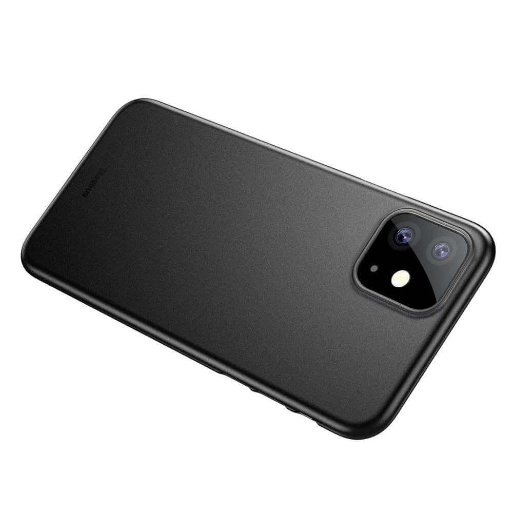Baseus Wing case — тънък полипропиленов кейс (0.45 mm) за iPhone 11 (черен) - 3