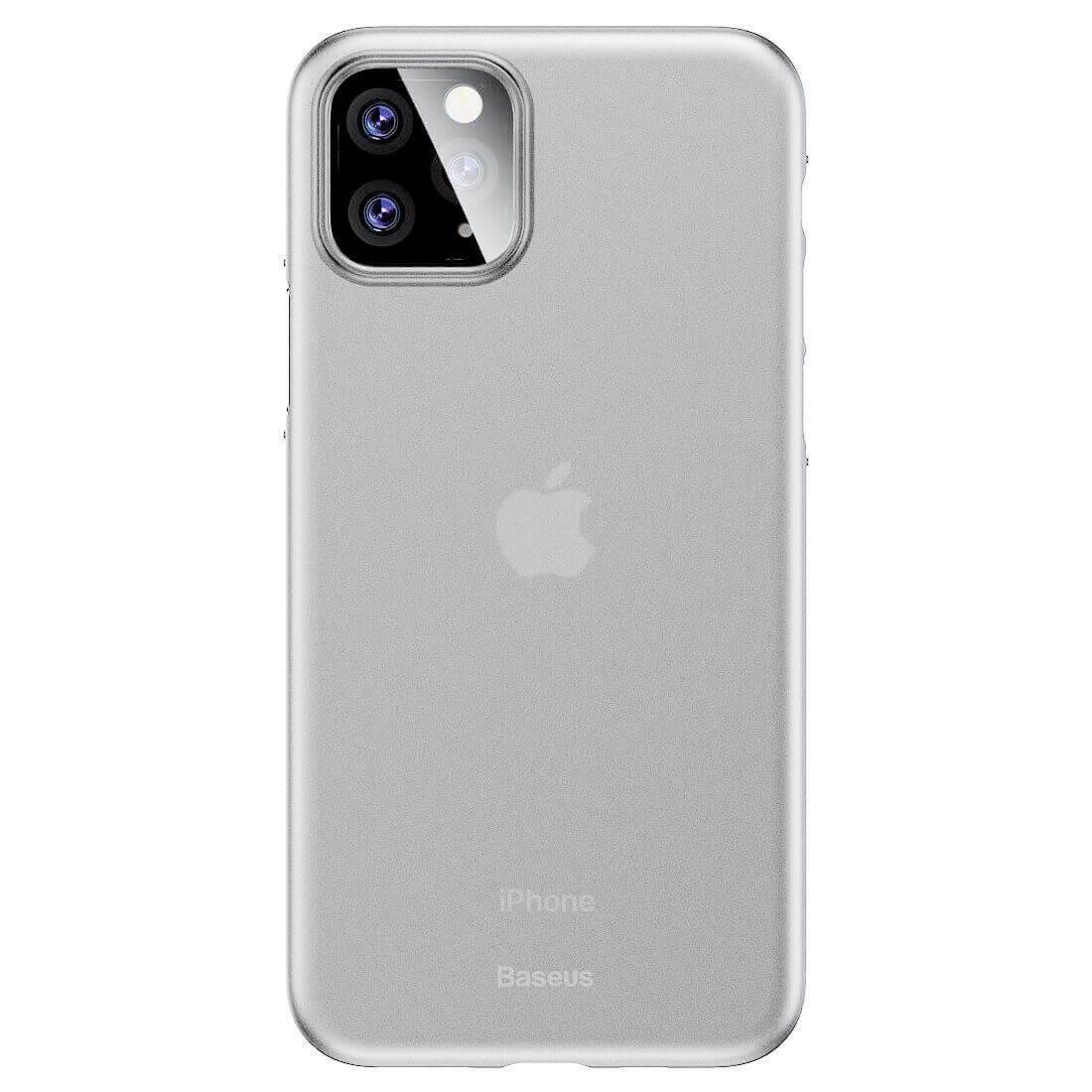 Baseus Wing case — тънък полипропиленов кейс (0.45 mm) за iPhone 11 Pro (бял) - 1