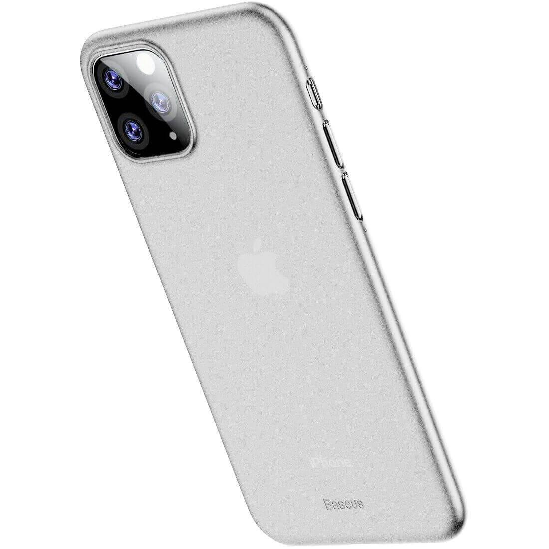 Baseus Wing case — тънък полипропиленов кейс (0.45 mm) за iPhone 11 Pro (бял) - 3