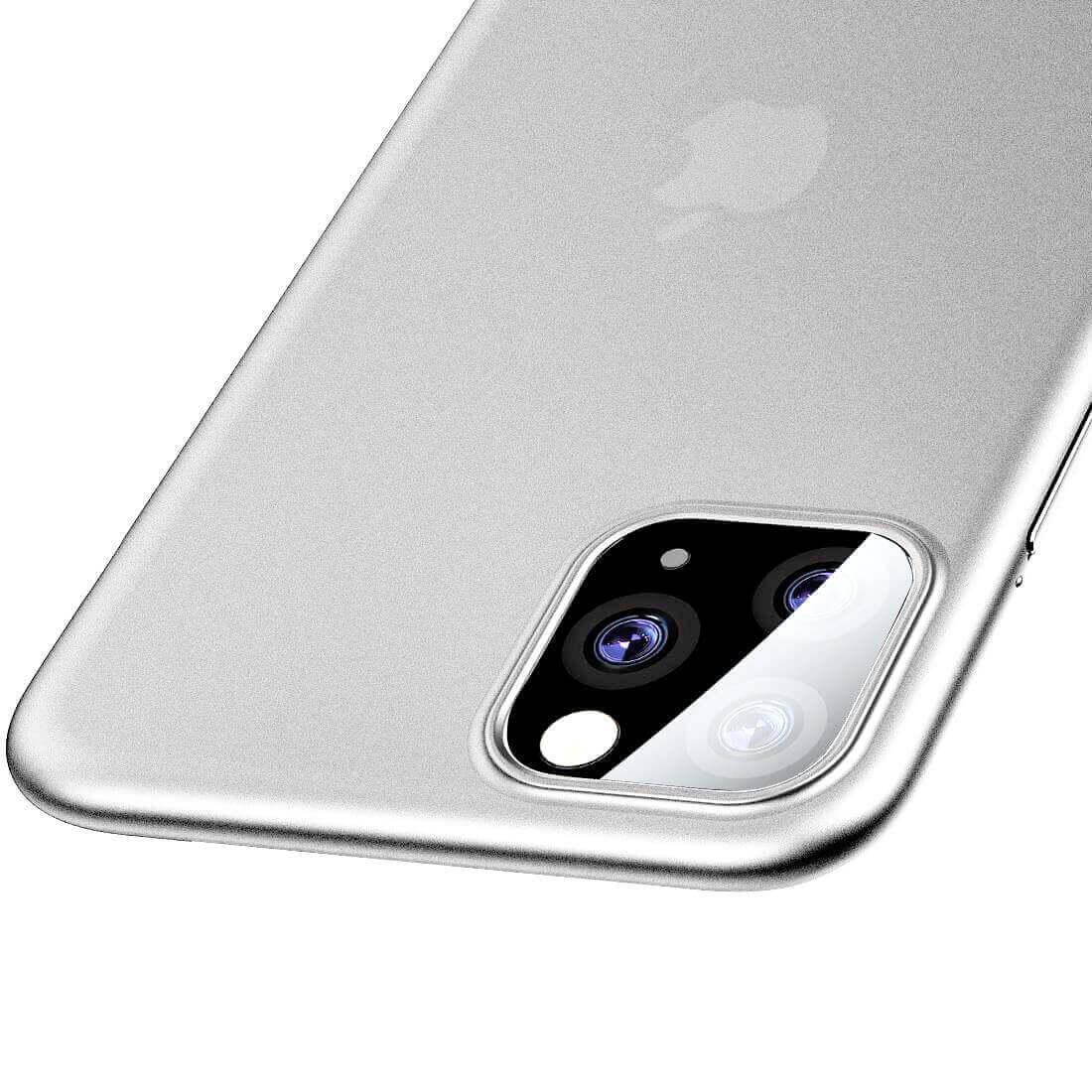 Baseus Wing case — тънък полипропиленов кейс (0.45 mm) за iPhone 11 Pro (бял) - 4