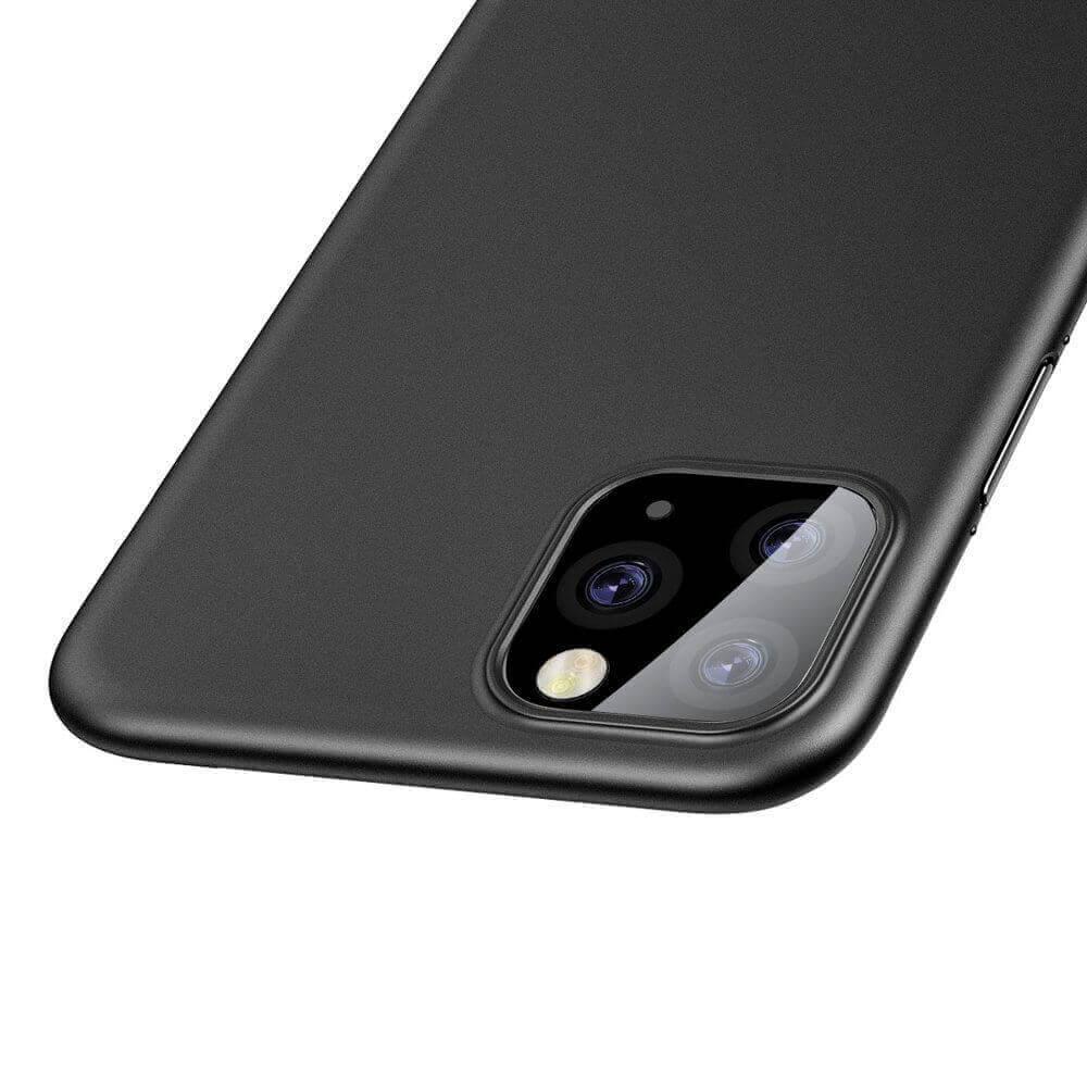 Baseus Wing case — тънък полипропиленов кейс (0.45 mm) за iPhone 11 Pro (черен) - 3