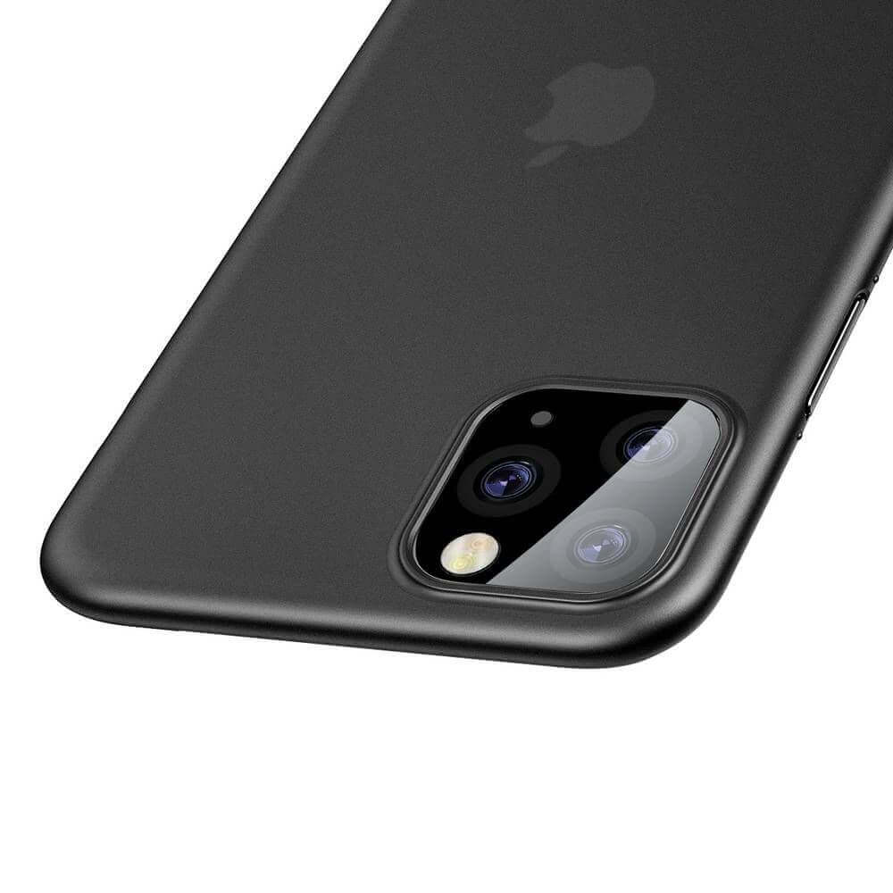 Baseus Wing case — тънък полипропиленов кейс (0.45 mm) за iPhone 11 Pro Max (сив) - 3