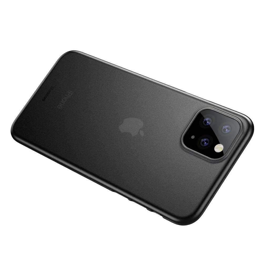 Baseus Wing case — тънък полипропиленов кейс (0.45 mm) за iPhone 11 Pro Max (сив) - 5