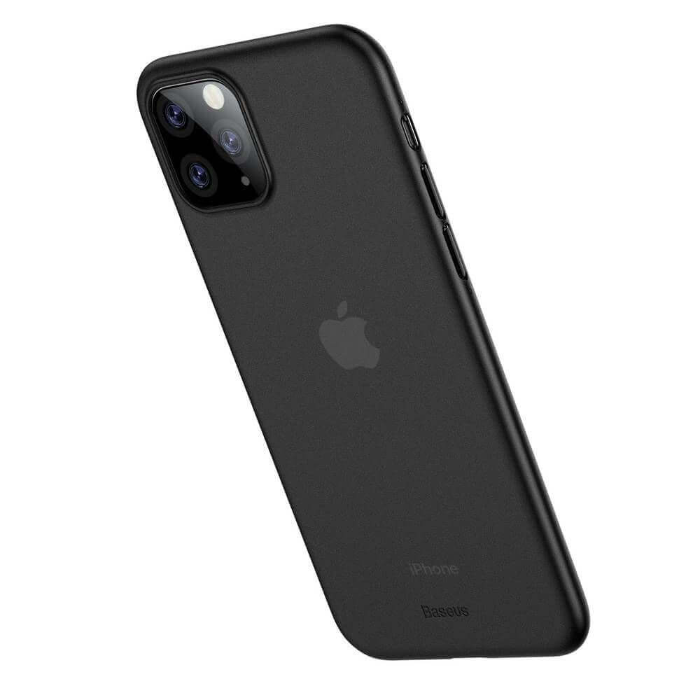 Baseus Wing case — тънък полипропиленов кейс (0.45 mm) за iPhone 11 Pro Max (сив) - 4