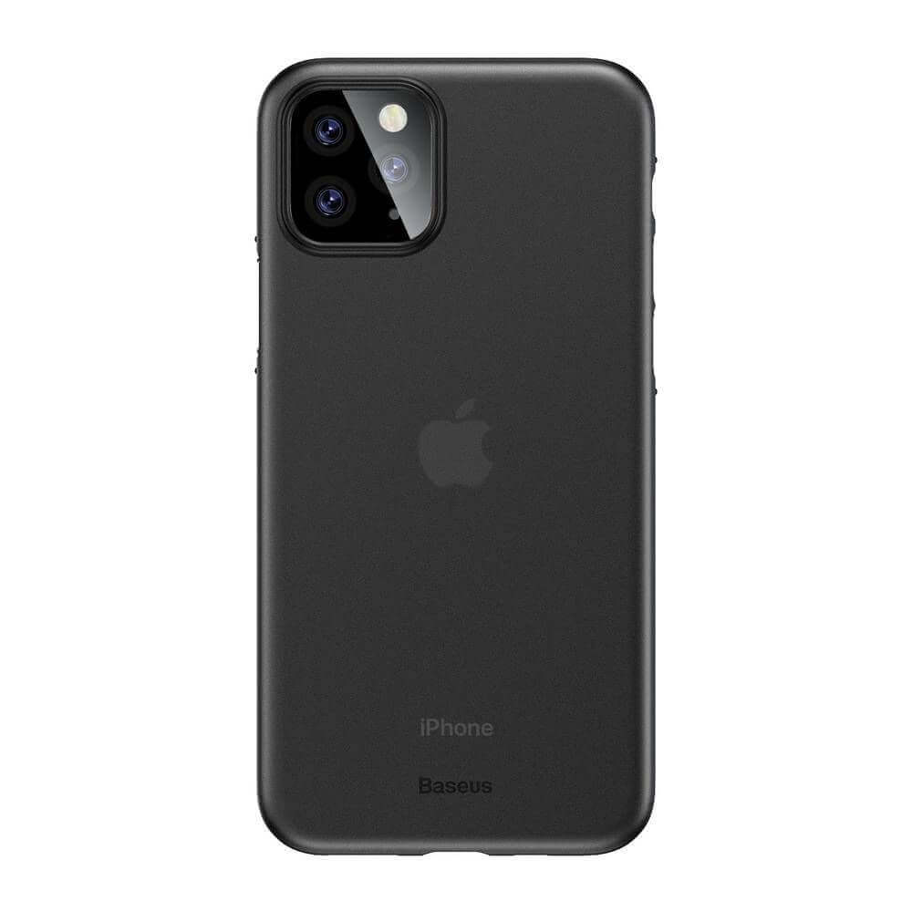 Baseus Wing case — тънък полипропиленов кейс (0.45 mm) за iPhone 11 Pro (сив) - 5