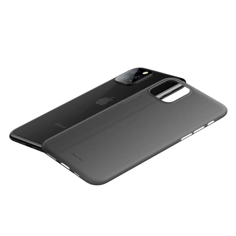Baseus Wing case — тънък полипропиленов кейс (0.45 mm) за iPhone 11 Pro (сив) - 4