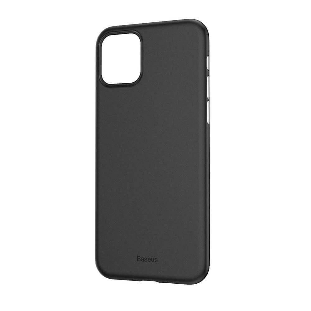 Baseus Wing case — тънък полипропиленов кейс (0.45 mm) за iPhone 11 (сив) - 3