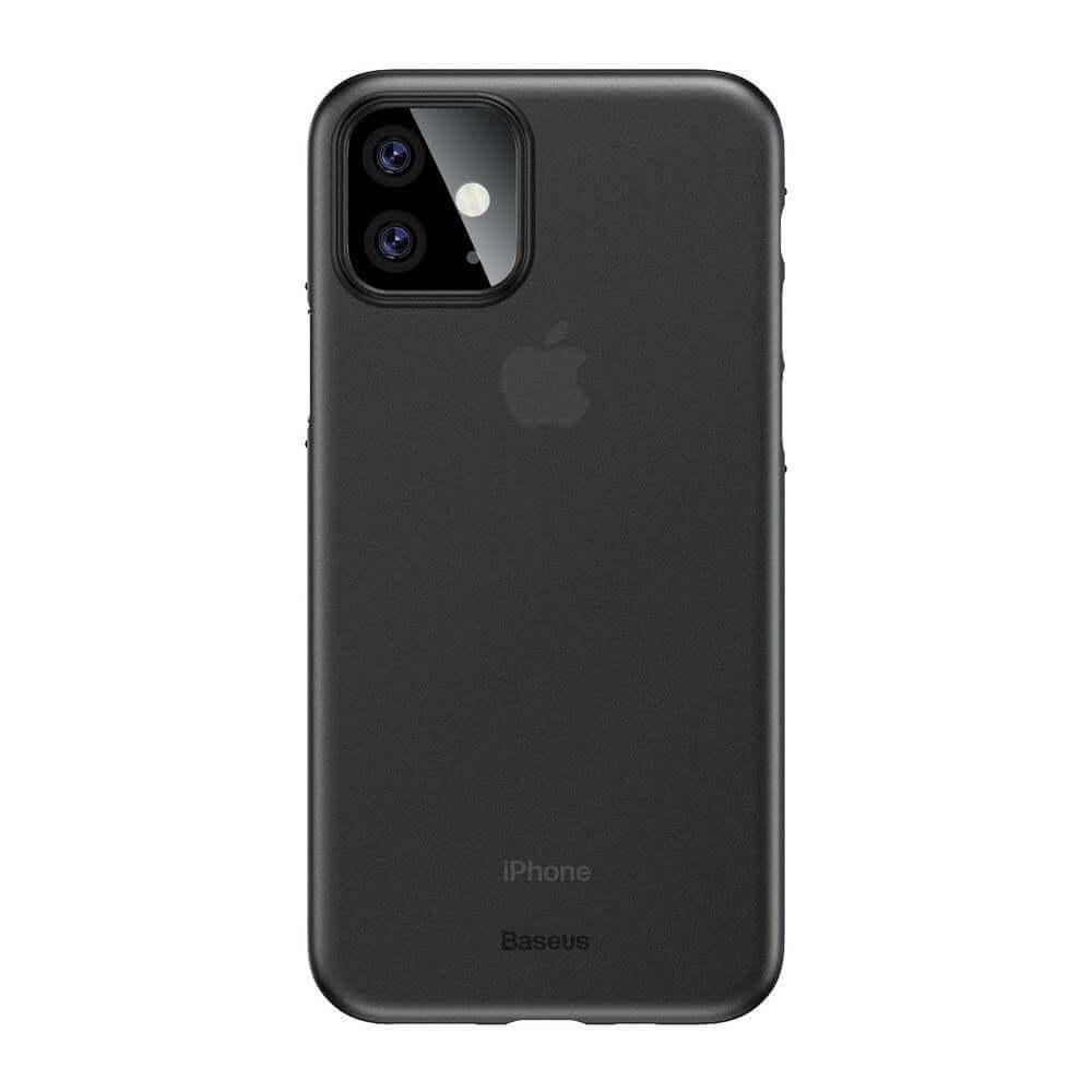 Baseus Wing case — тънък полипропиленов кейс (0.45 mm) за iPhone 11 (сив) - 1