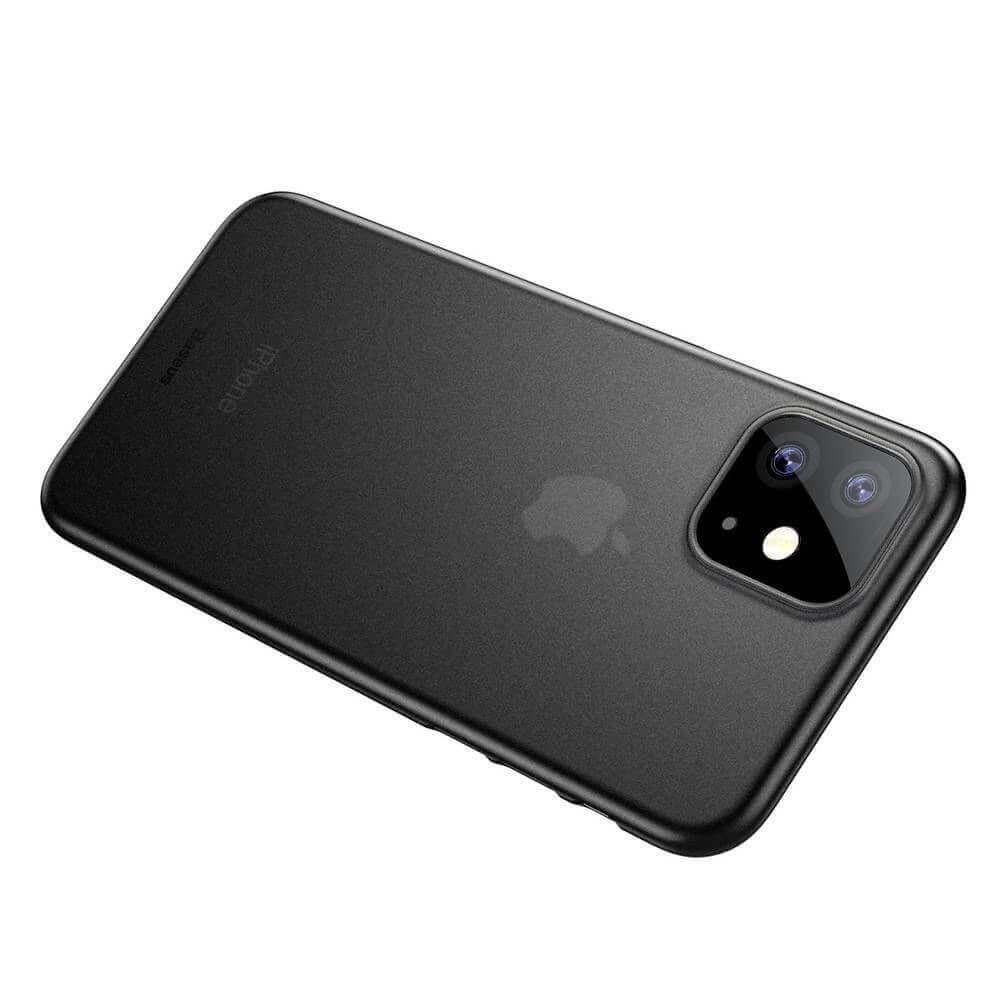 Baseus Wing case — тънък полипропиленов кейс (0.45 mm) за iPhone 11 (сив) - 5