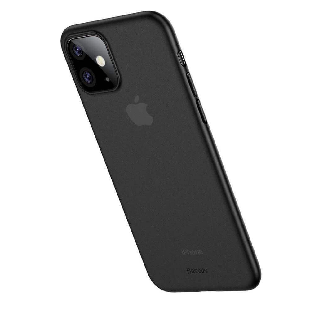 Baseus Wing case — тънък полипропиленов кейс (0.45 mm) за iPhone 11 (сив) - 2