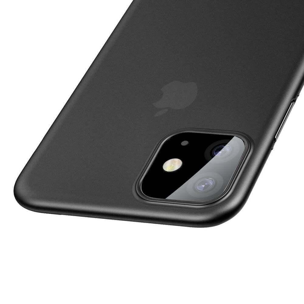 Baseus Wing case — тънък полипропиленов кейс (0.45 mm) за iPhone 11 (сив) - 4