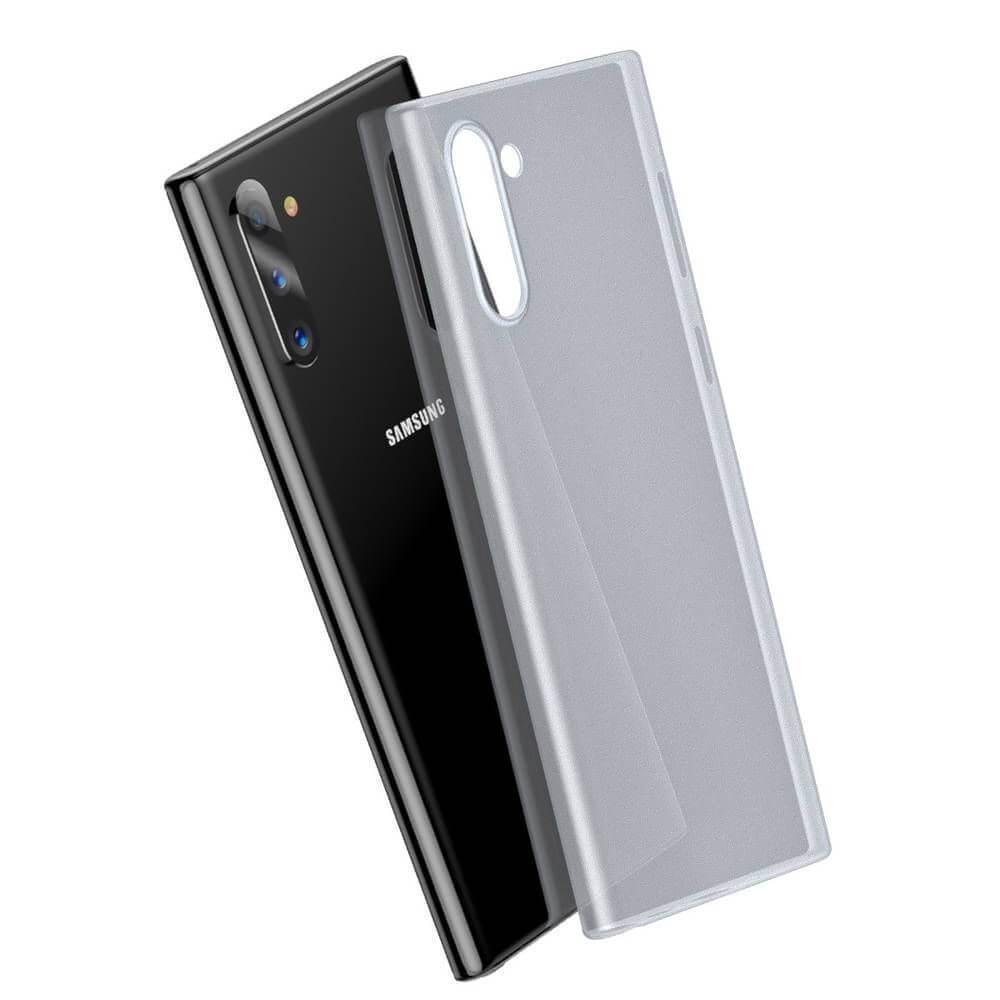 Baseus Wing case — тънък полипропиленов кейс (0.45 mm) за Samsung Galaxy Note 10 (бял) - 4