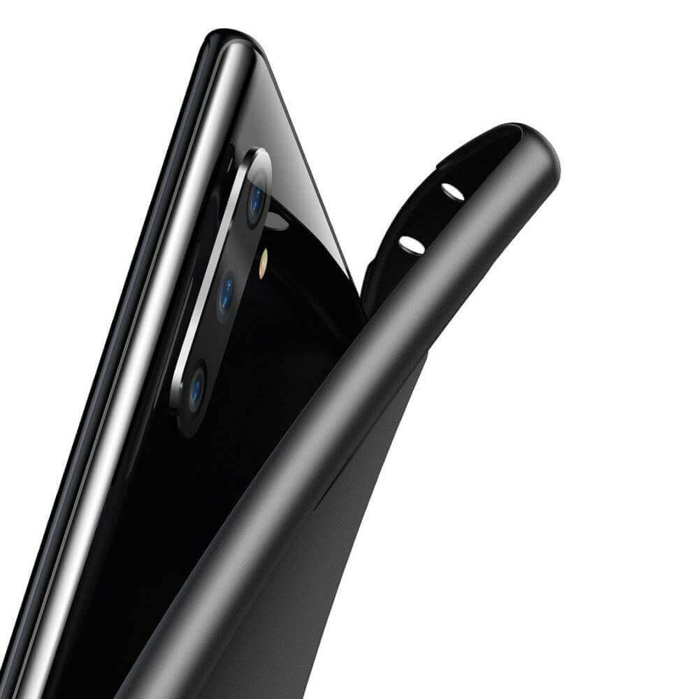 Baseus Wing case — тънък полипропиленов кейс (0.45 mm) за Samsung Galaxy Note 10 (черен) - 2