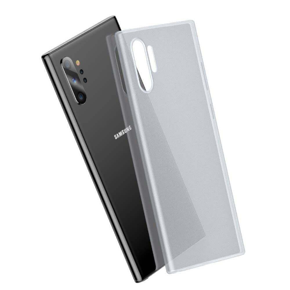 Baseus Wing case — тънък полипропиленов кейс (0.45 mm) за Samsung Galaxy Note 10 Plus (бял) - 4