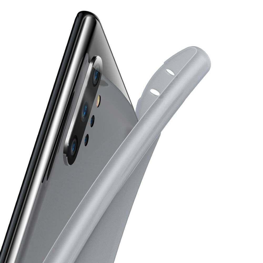 Baseus Wing case — тънък полипропиленов кейс (0.45 mm) за Samsung Galaxy Note 10 Plus (бял) - 5