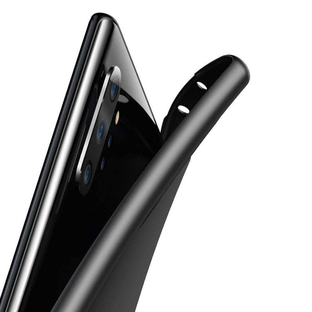 Baseus Wing case — тънък полипропиленов кейс (0.45 mm) за Samsung Galaxy Note 10 Plus (черен) - 5