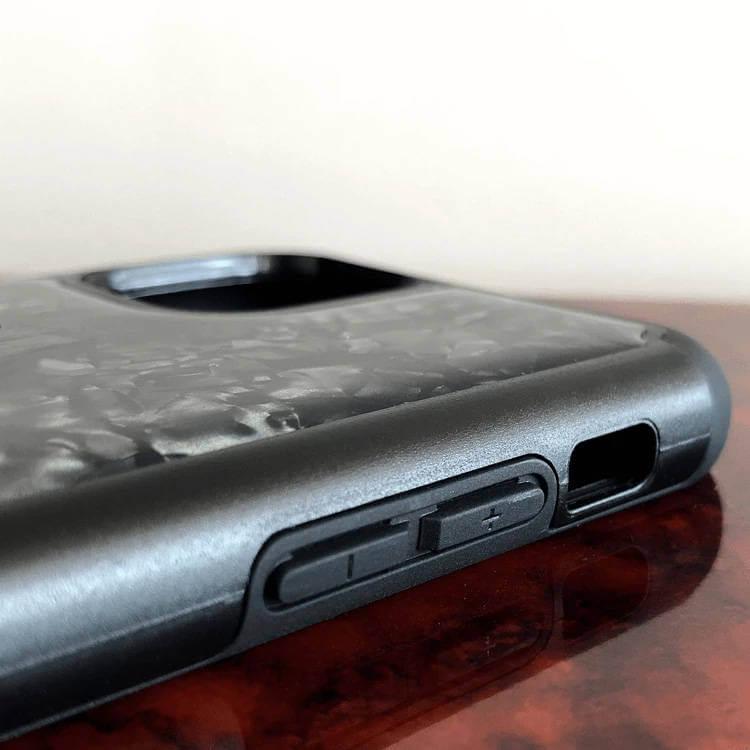 Bling My Thing Treasure Silver Skull Nacre Swarovski — хибриден удароустойчив кейс с кристали Cваровски за iPhone 11 Pro (черен) - 3