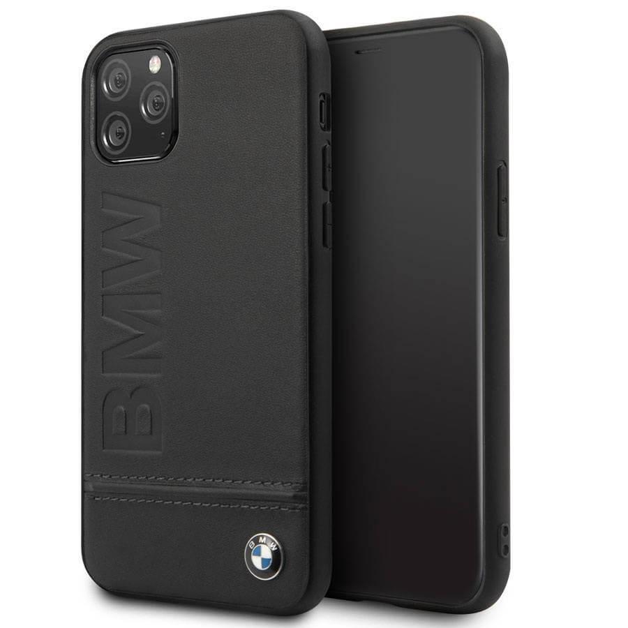 BMW Signature Genuine Leather Soft Case — кожен кейс (естествена кожа) за iPhone 11 Pro Max (черен) - 1