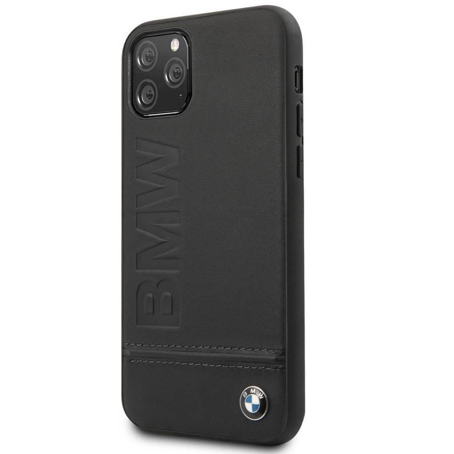 BMW Signature Genuine Leather Soft Case — кожен кейс (естествена кожа) за iPhone 11 Pro Max (черен) - 4
