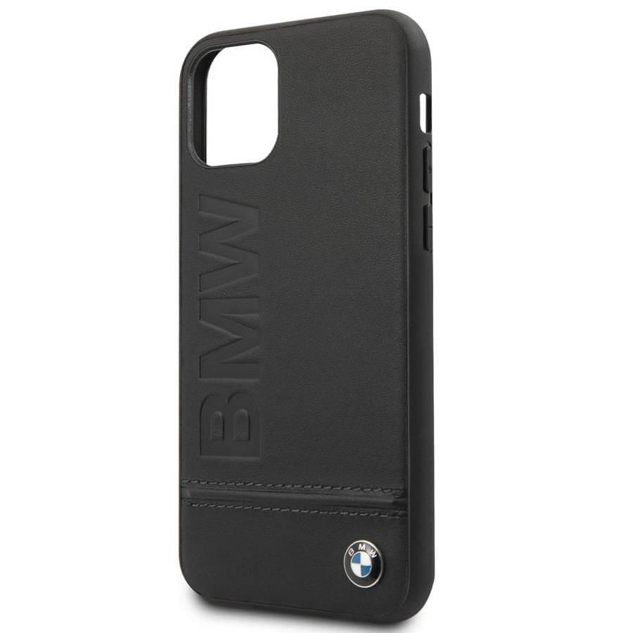 BMW Signature Genuine Leather Soft Case — кожен кейс (естествена кожа) за iPhone 11 Pro Max (черен) - 2