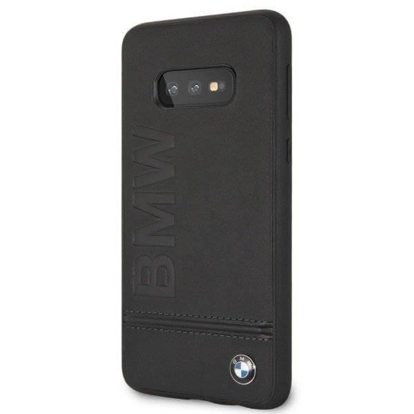 BMW Signature Genuine Leather Soft Case — кожен кейс (естествена кожа) за Samsung Galaxy S10E (черен) - 2