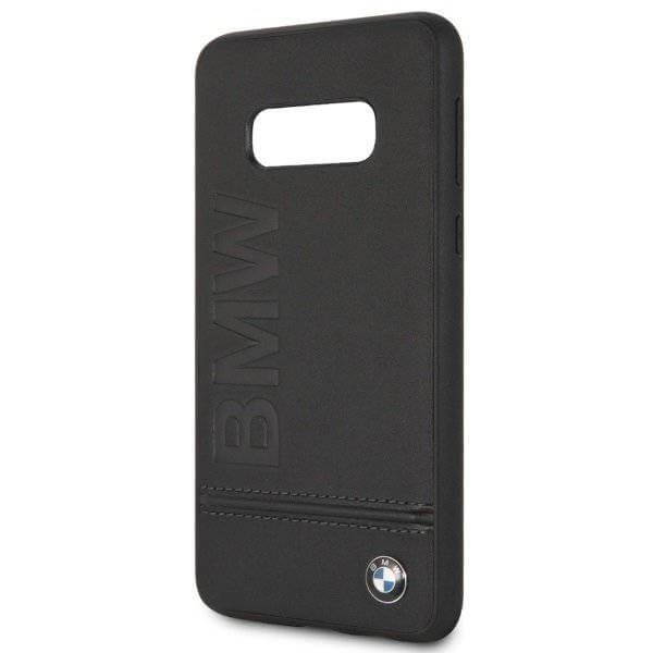 BMW Signature Genuine Leather Soft Case — кожен кейс (естествена кожа) за Samsung Galaxy S10E (черен) - 4