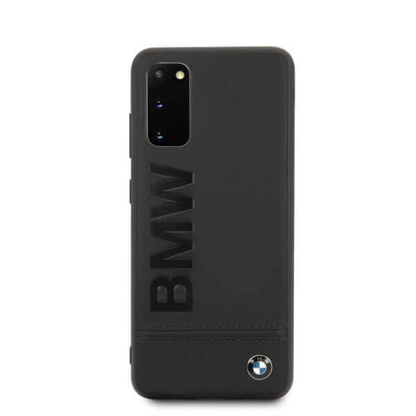 BMW Signature Genuine Leather Soft Case — кожен кейс (естествена кожа) за Samsung Galaxy S20 (черен) - 3