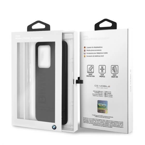BMW Signature Genuine Leather Soft Case — кожен кейс (естествена кожа) за Samsung Galaxy S20 Ultra (черен) - 4