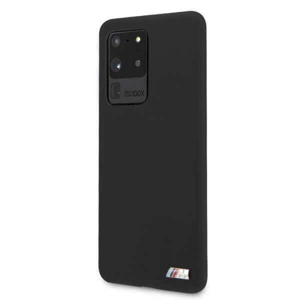 BMW Signature Silicone Hard Case — твърд силиконов кейс за Samsung Galaxy S20 Ultra (черен) - 2