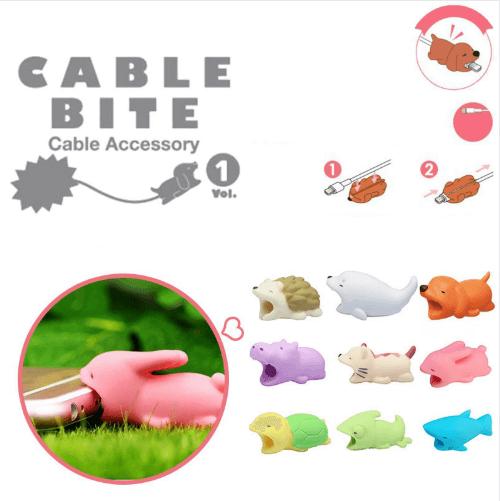 Cable Bite Protection — артистичен аксесоар, предпазващ вашия Lightning кабел (синя акула) - 3