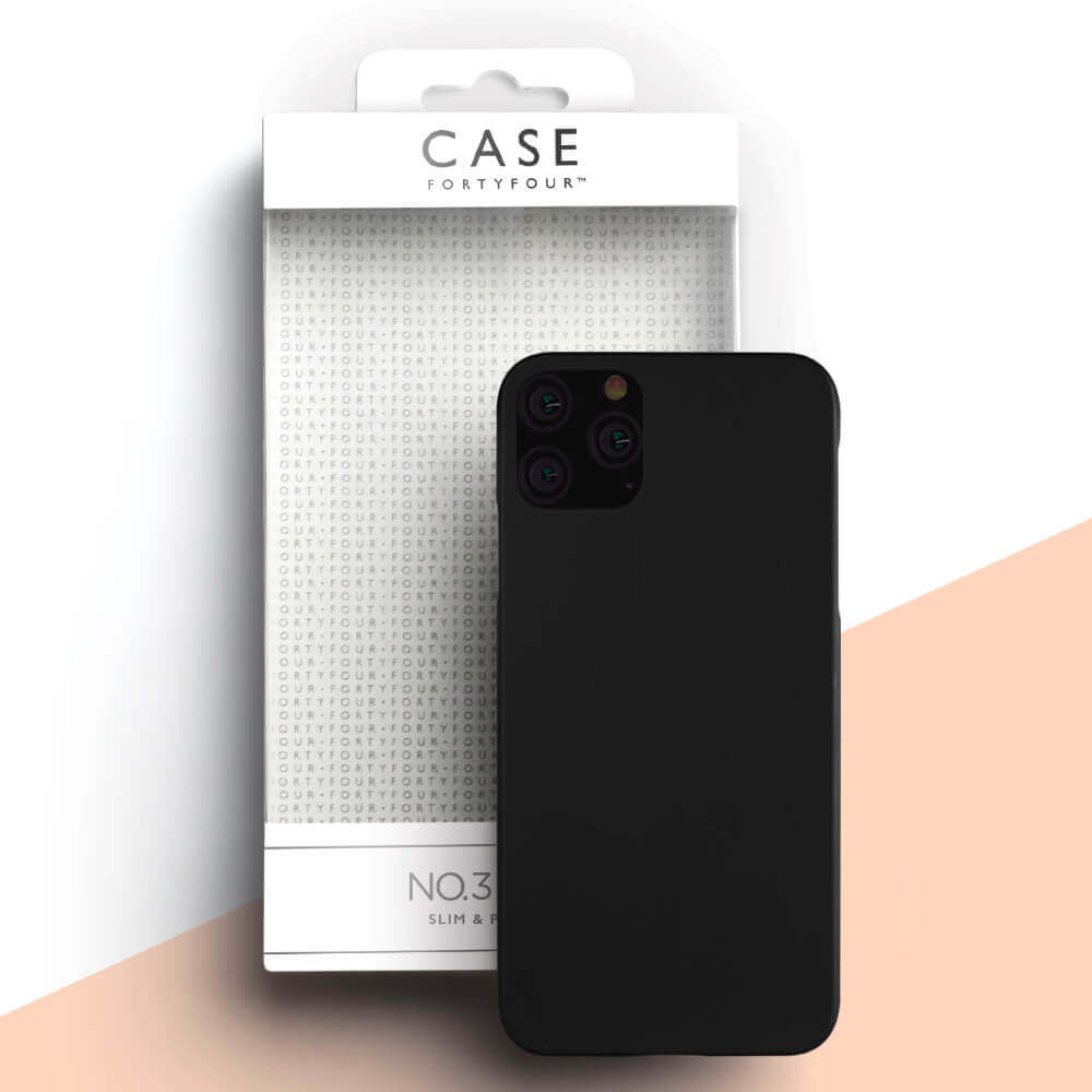 Case FortyFour No.3 Case — поликарбонатов кейс за iPhone 11 (черен) - 2