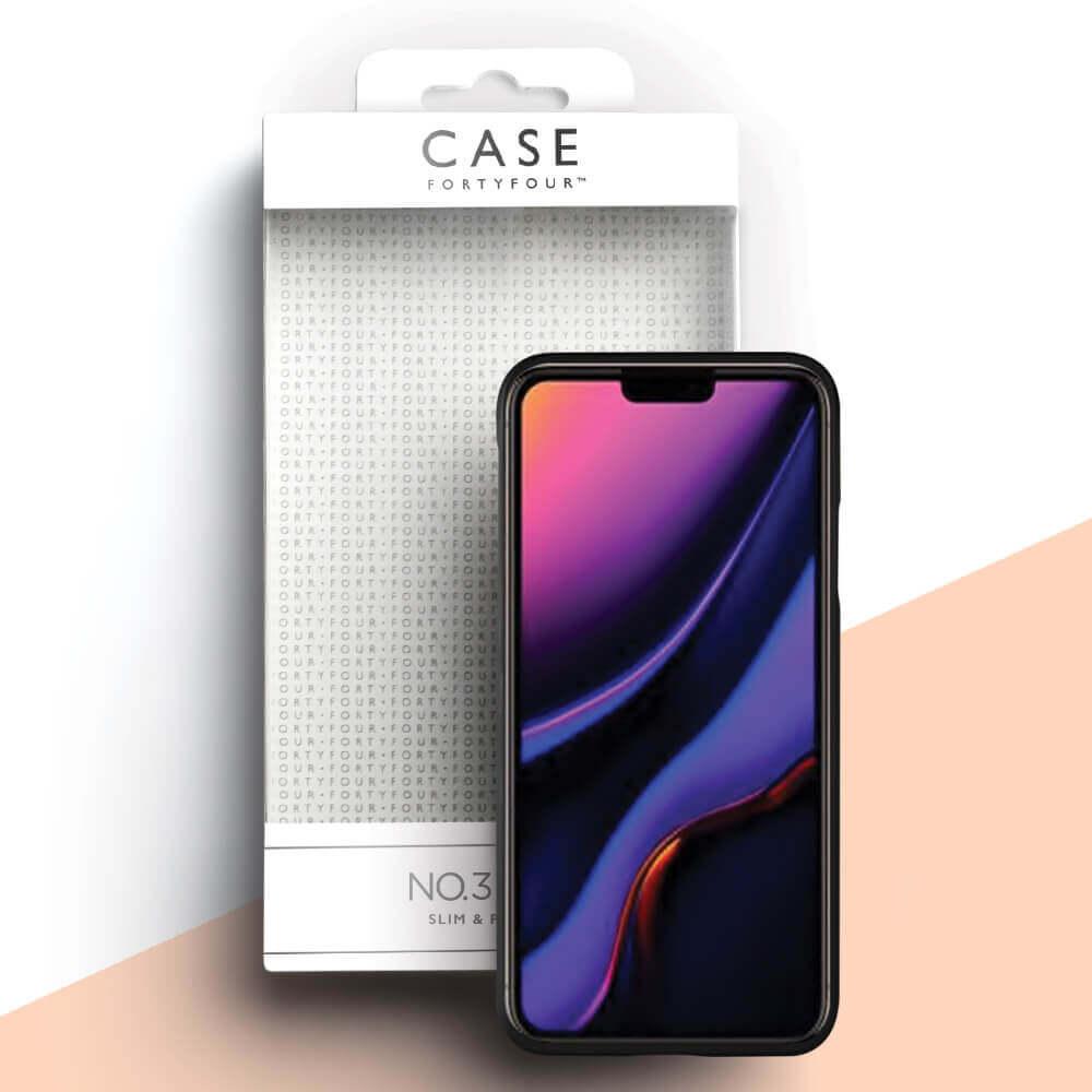 Case FortyFour No.3 Case — поликарбонатов кейс за iPhone 11 (черен) - 3
