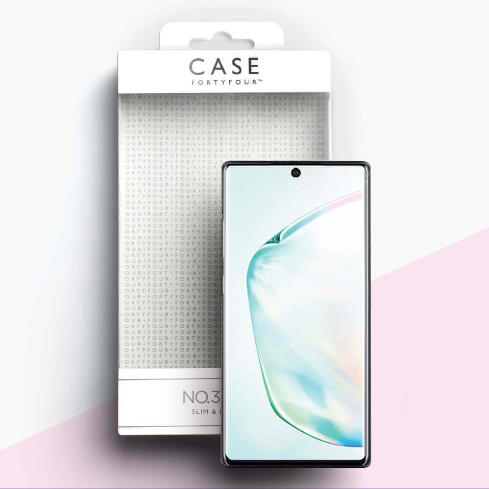 Case FortyFour No.3 Case — поликарбонатов кейс за Samsung Galaxy Note 10 (черен) - 3