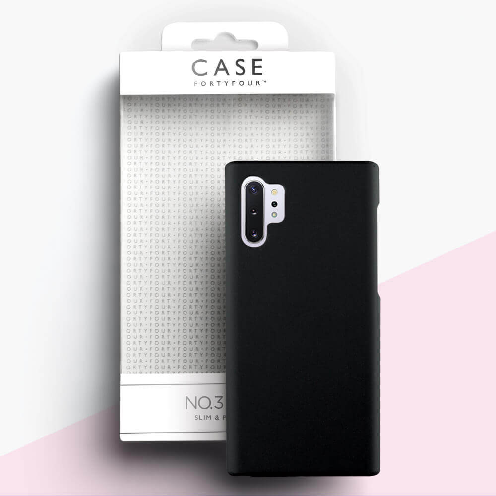 Case FortyFour No.3 Case — поликарбонатов кейс за Samsung Galaxy Note 10 Plus (черен) - 2