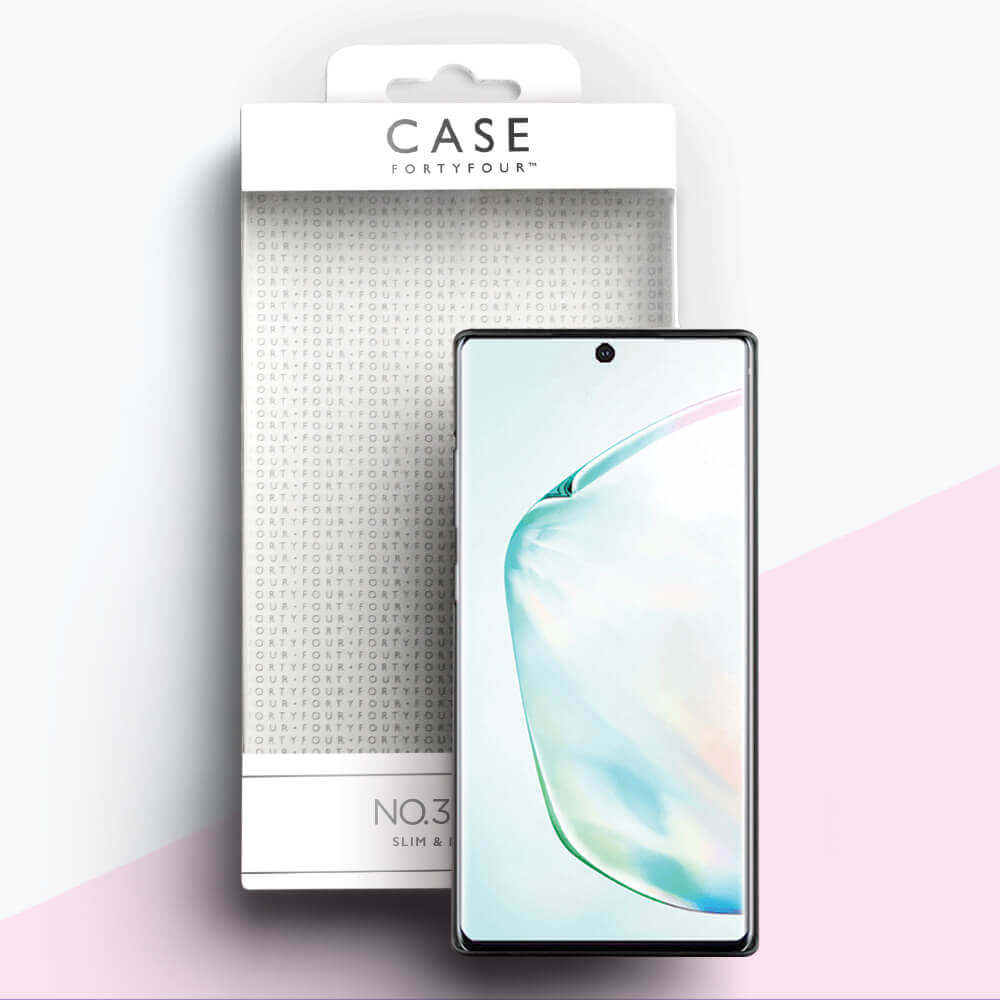 Case FortyFour No.3 Case — поликарбонатов кейс за Samsung Galaxy Note 10 Plus (черен) - 3