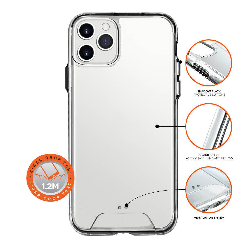 Eiger Glacier Case — удароустойчив хибриден кейс за iPhone 11 Pro (прозрачен) - 3