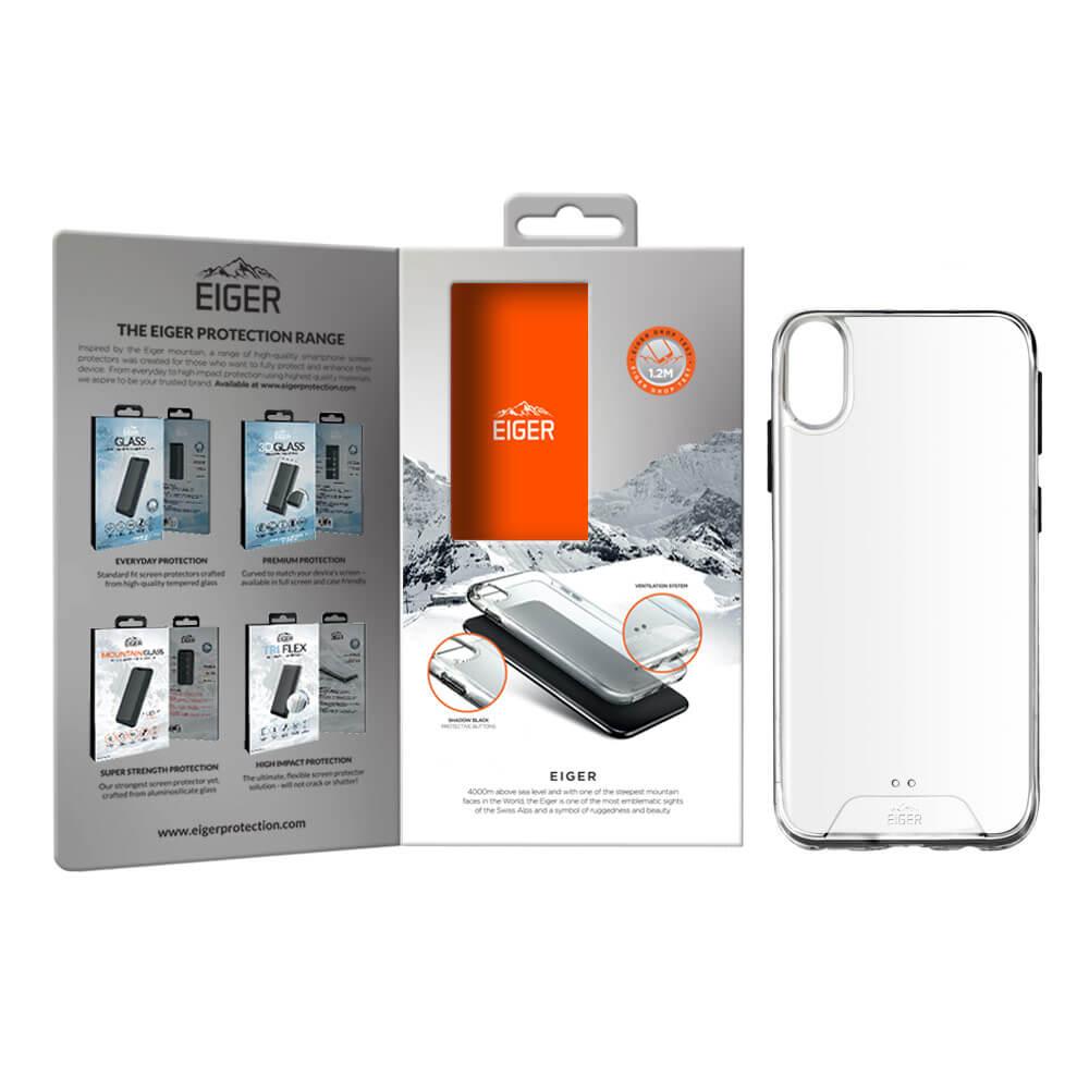 Eiger Glacier Case — удароустойчив хибриден кейс за iPhone XS, iPhone X (прозрачен) - 3