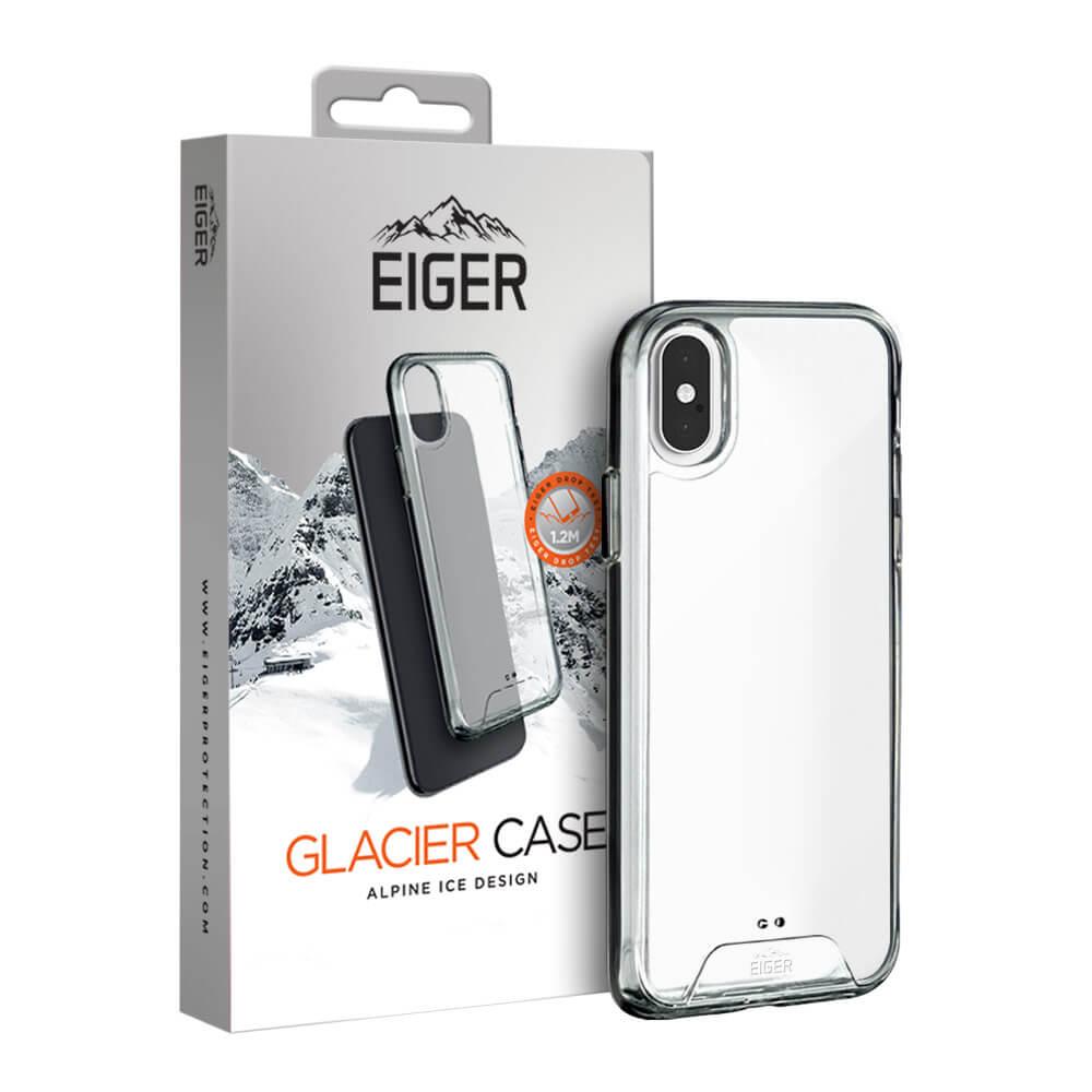 Eiger Glacier Case — удароустойчив хибриден кейс за iPhone XS, iPhone X (прозрачен) - 1