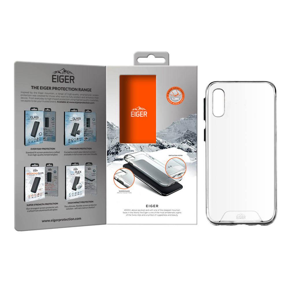 Eiger Glacier Case — удароустойчив хибриден кейс за Samsung Galaxy A10 (прозрачен) - 2