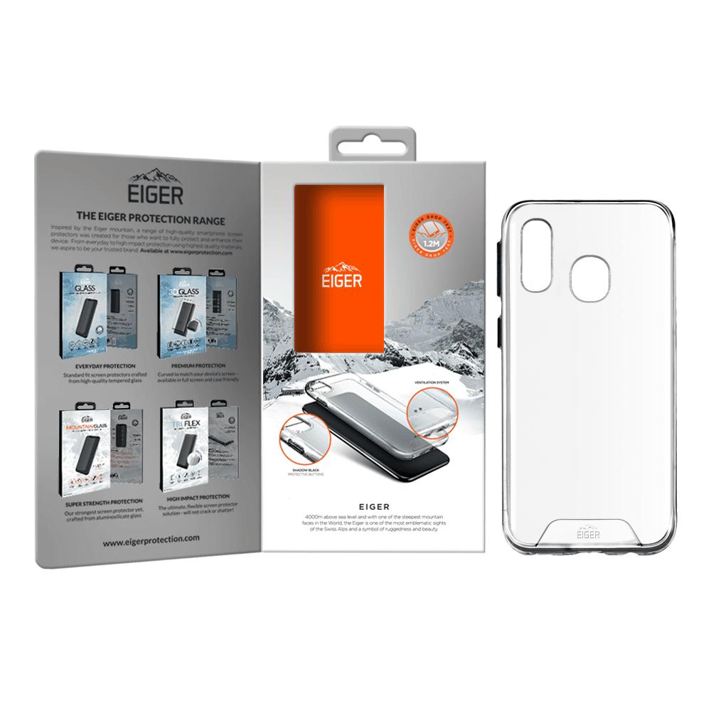 Eiger Glacier Case — удароустойчив хибриден кейс за Samsung Galaxy A40 (прозрачен) - 3