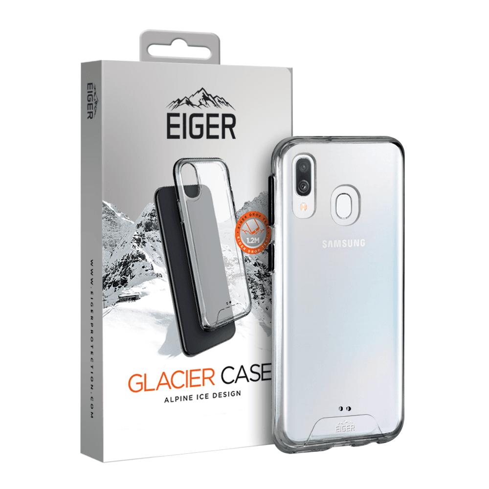 Eiger Glacier Case — удароустойчив хибриден кейс за Samsung Galaxy A40 (прозрачен) - 2