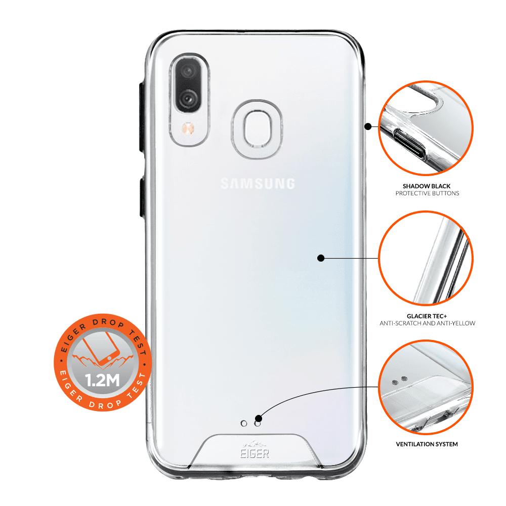 Eiger Glacier Case — удароустойчив хибриден кейс за Samsung Galaxy A40 (прозрачен) - 1