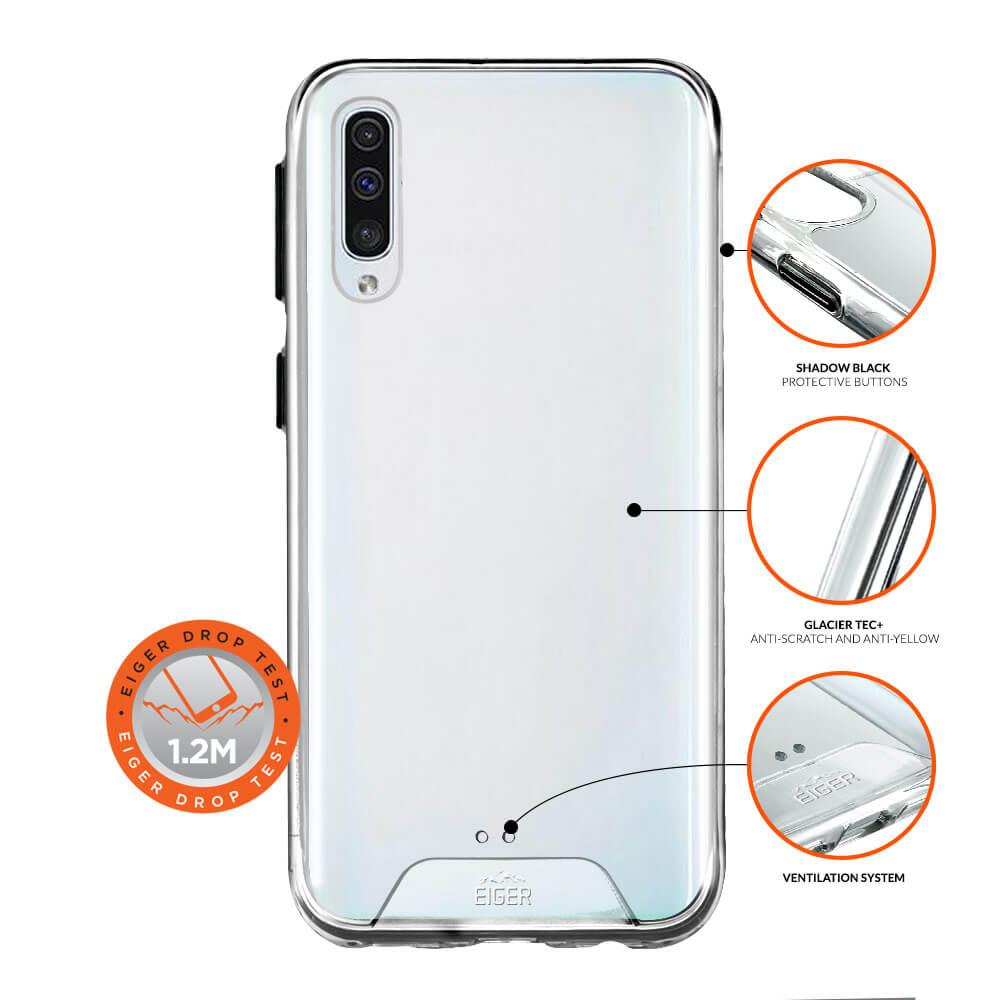 Eiger Glacier Case — удароустойчив хибриден кейс за Samsung Galaxy A50 (прозрачен) - 3