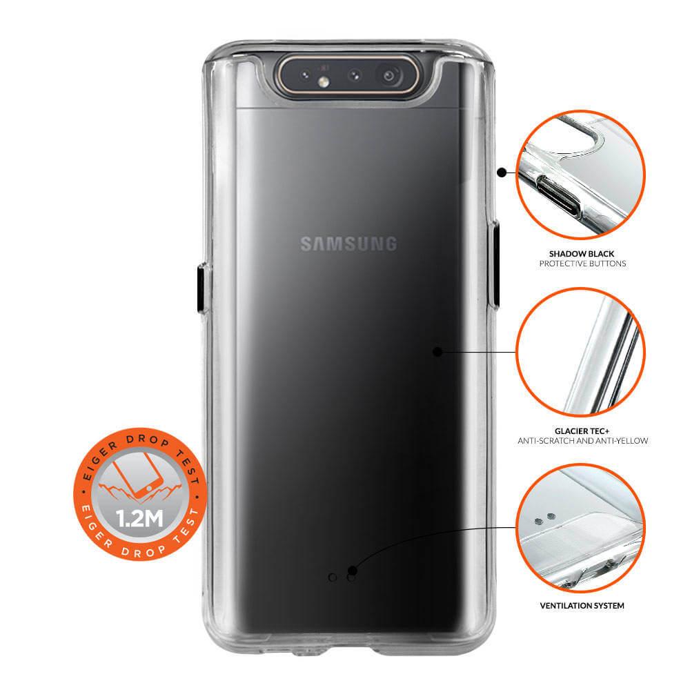 Eiger Glacier Case — удароустойчив хибриден кейс за Samsung Galaxy A80 (прозрачен) - 3