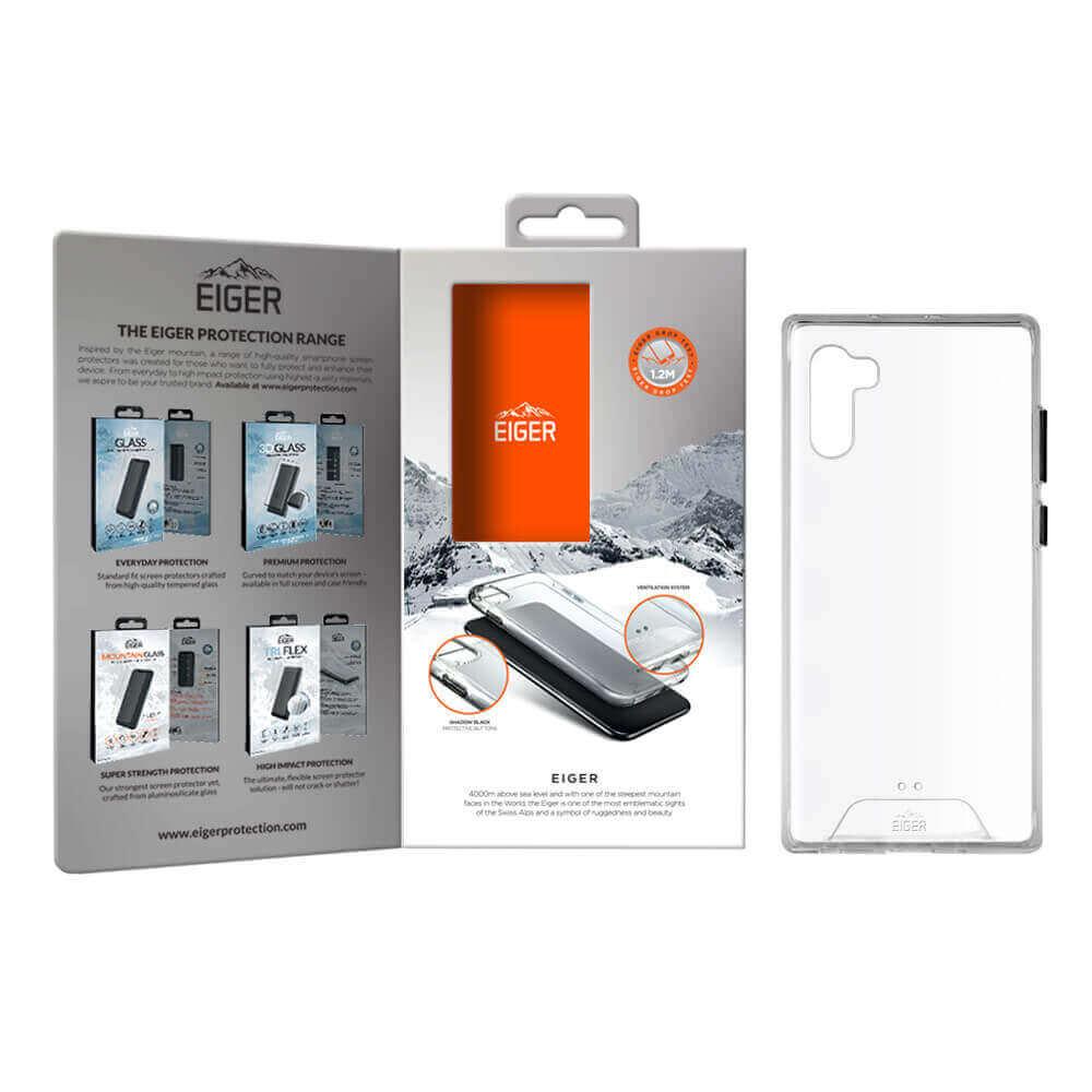 Eiger Glacier Case — удароустойчив хибриден кейс за Samsung Galaxy Note 10 Plus (прозрачен) - 2